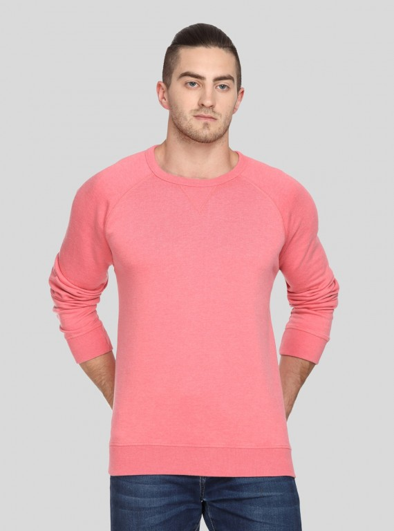 Coral V Cut Fleece Sweat Shirt