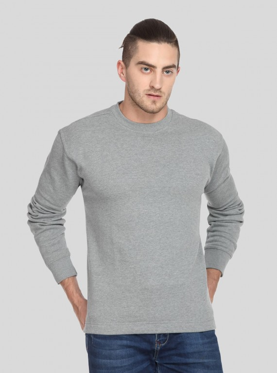 Grey Melange V Cut Fleece...