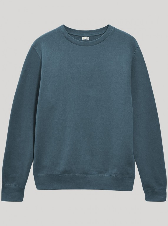 Blue Garment Dyed Sweat Shirt
