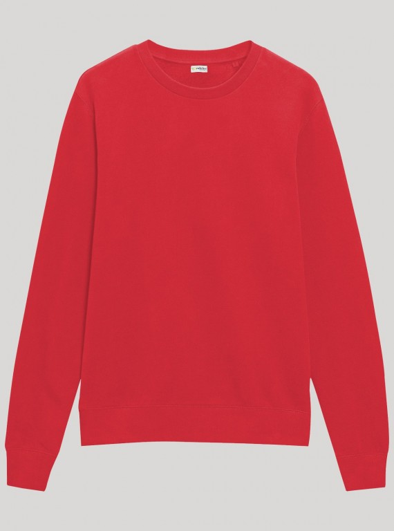 Red Round Neck Sweat Shirt
