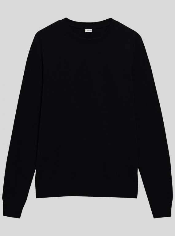 Black Round Neck Sweat Shirt