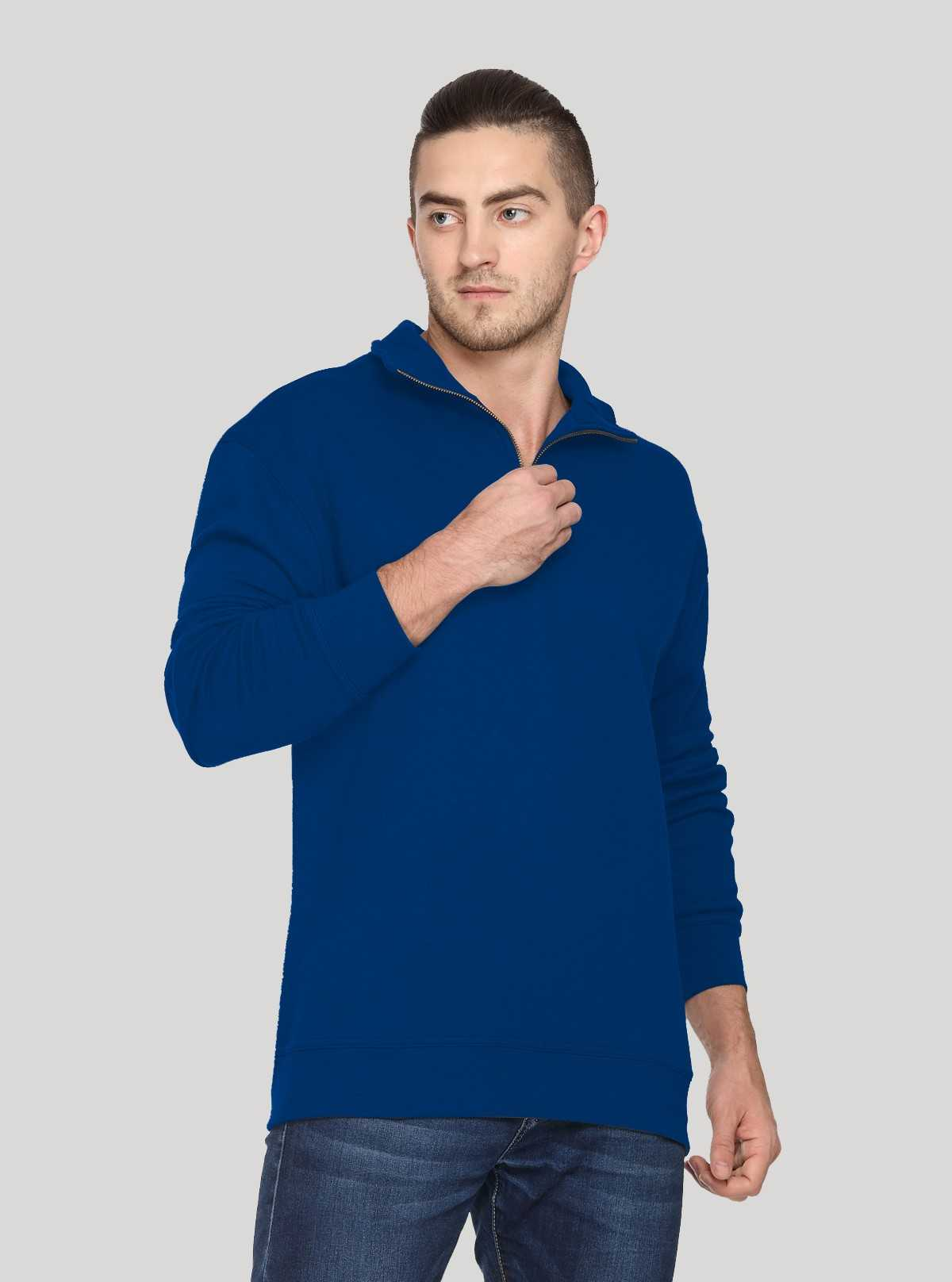 Royal zip Collar Sweat Shirt