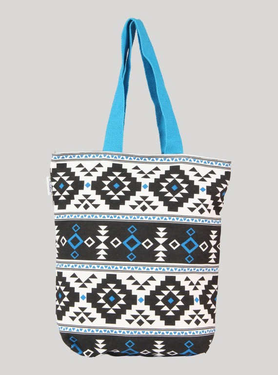 Ocean Blue Canvas Bag