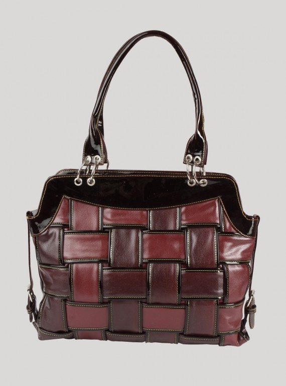 Brown Twisted Leather Bag