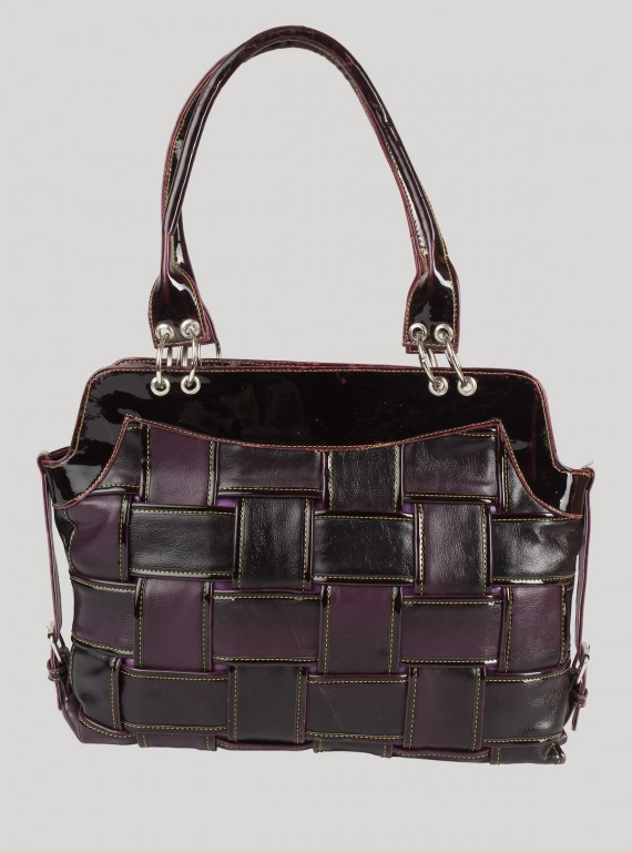 Purple Twisted Leather Bag