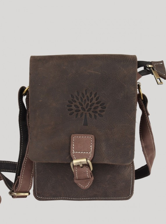 Ash Grey Leather Bag