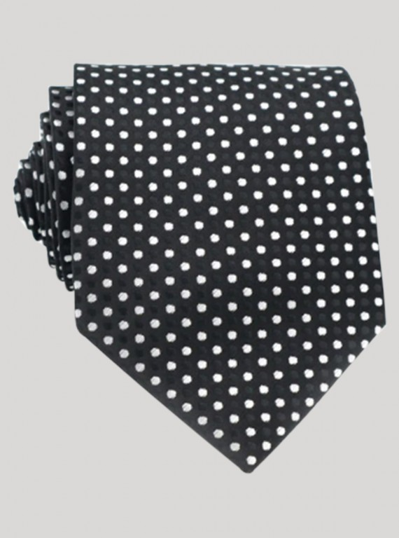 Black Dotted Neck Tie