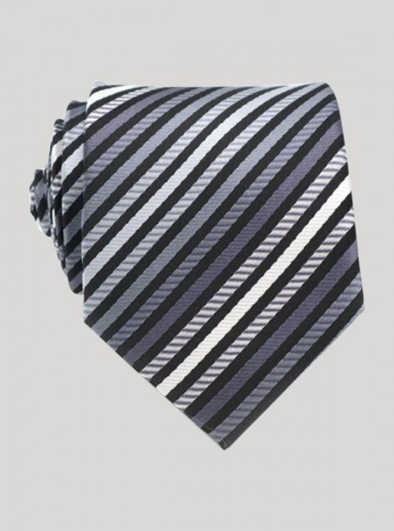 Black Multi Stripe Tie