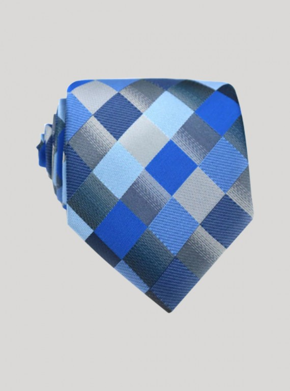 Blue Multi Shade Neck Tie