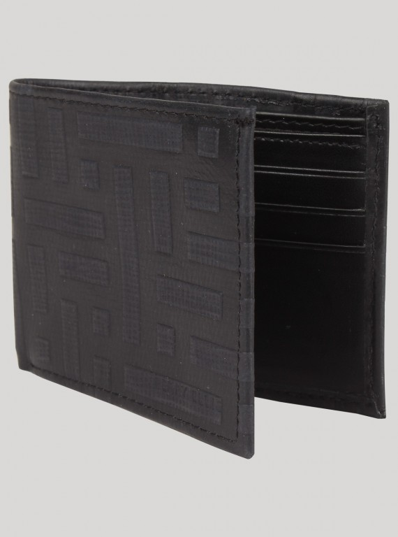 Square Black Wallet