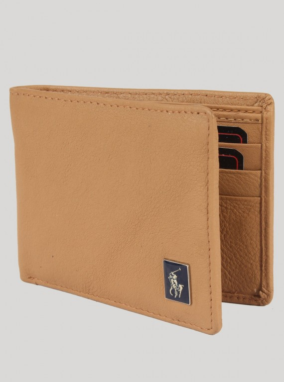 Light Beige Leather Wallet