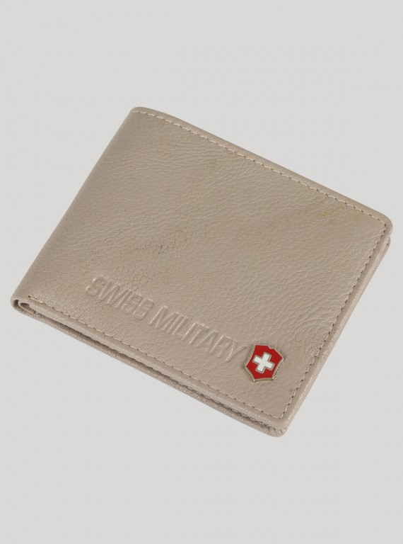 Soft Grey Leather Wallet