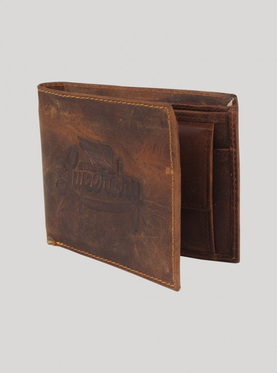Faded Brown Leather Wallet