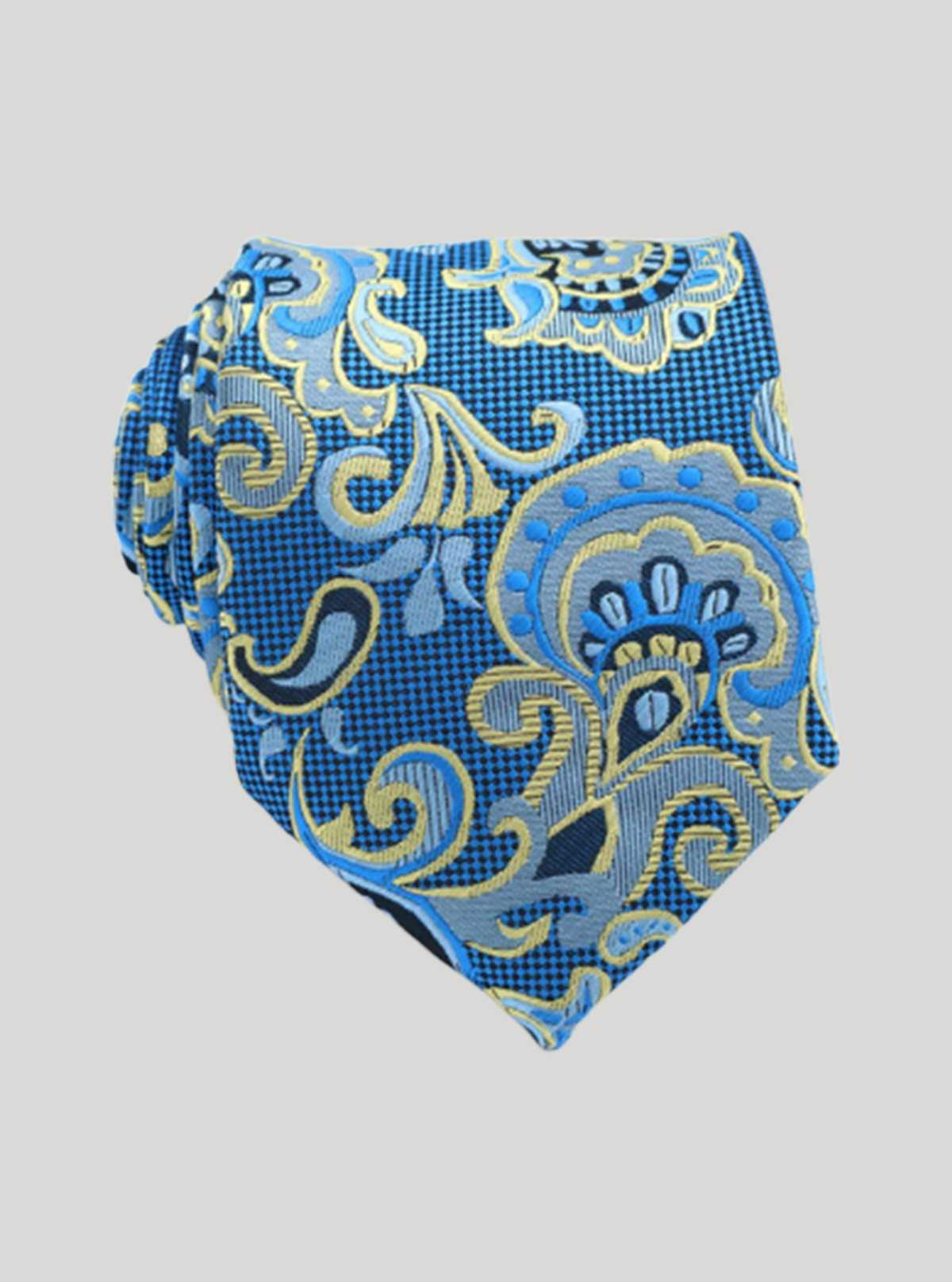Gold Floral Jacuard Tie