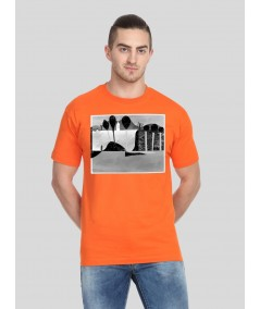 Orange Paper Print TShirt