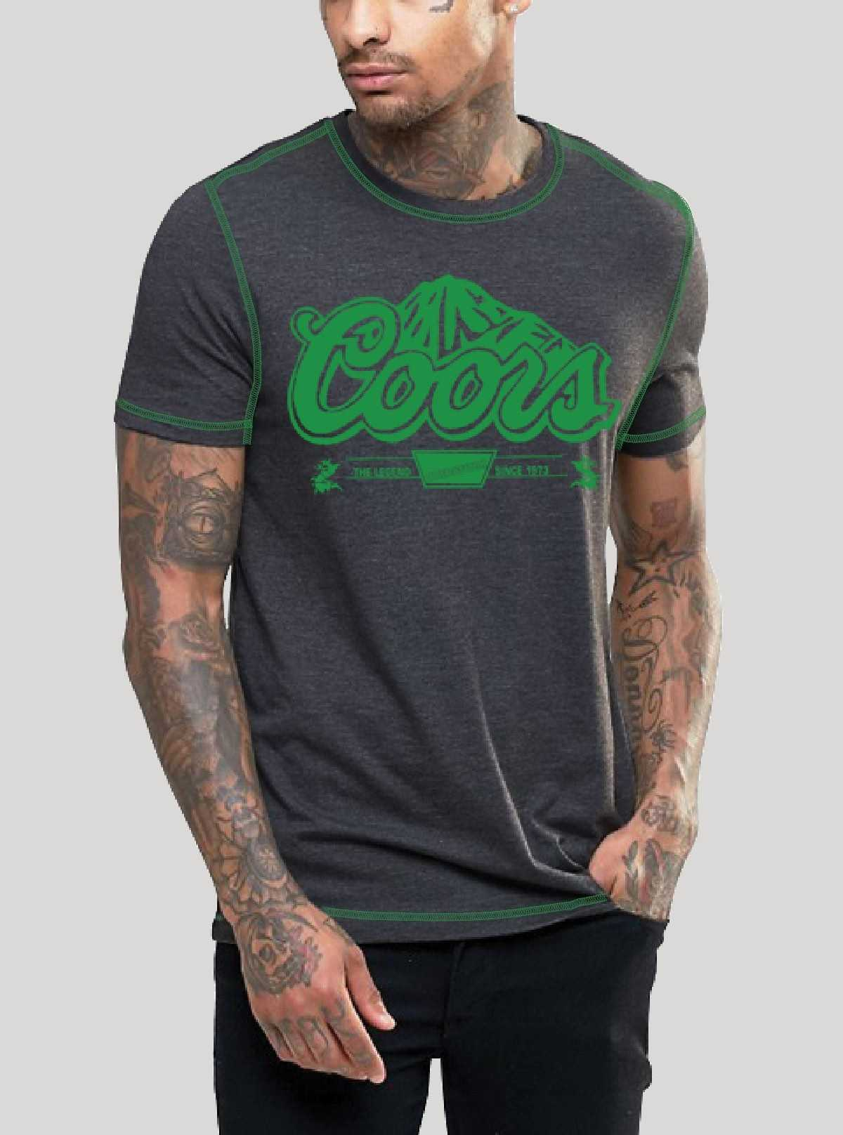 Green Coors  Printed T-Shirt
